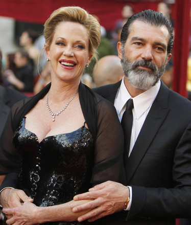 Antonio Banderas and Melanie Griffith arrive at the 82nd Academy Awards in Hollywood